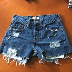 Levi's original 501 straight leg button-fly shorts